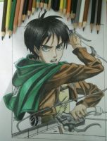 drawing Eren yeager (attack on titan) by maldiakbar1