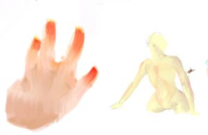 hand and a body by ma8c0