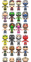 Mortal Kombat 9 Sackboys by ChrisFClarke
