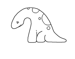 Baby Brontosaurus Lineart by Xbox-DS-Gameboy