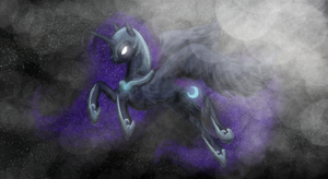 Nightmare Moon by ButtonsTheCatt