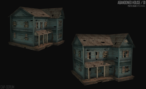 Speed model, abandoned house by cap-serum