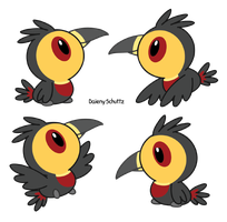 Chibi Channel-billed Toucan by Daieny
