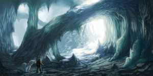 Ice Cavern by DeathMetalDan