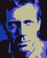 Hugh Laurie Neon Blue by NeonGlo