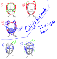 DRR hair and helmet tutorial by Miss-Sheepy