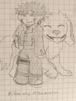 My Chibi Kiba by shinobitokobot
