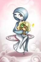 Gardevoir and Whimsicott by JacyA