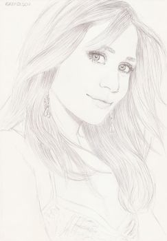 Ashley Olsen 6 by crayon2papier