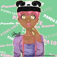 Panda Hat Girl by purplemusic-B-ox