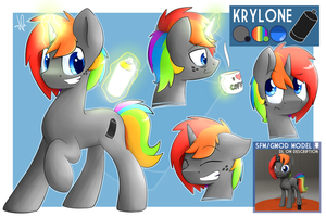Krylone ref sheet by ShinodaGE