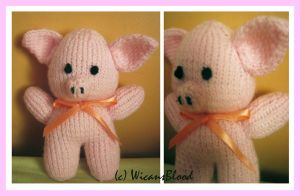 Knitted Piglet by WicansBlood