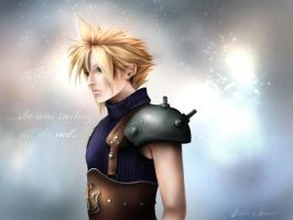 Cloud Strife - Her smile by DesireaNemesis