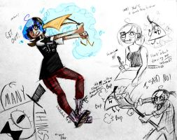 Bill Cipher Doodles by Squ1dP0ny