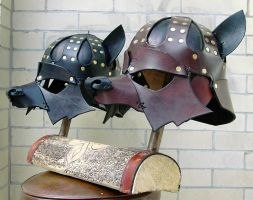 Base Wolf helms by Dmitriwolf
