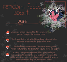 Random Facts About Aire by Hawksfeathers97