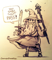 Gandalf by CornerDoodles