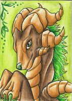 ACEO Trade: Bryophyte by Ember-Eyes