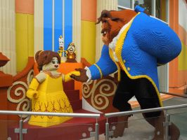 Beauty and Beast at Lego Store- Downtown Disney by QueenoftheLemurs