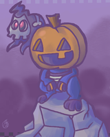 Pumpkin Croagunk by RKPiratedrawer