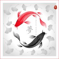 Yin Yang Koi by broom-rider
