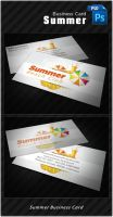 Summer Business Card by k0z3y
