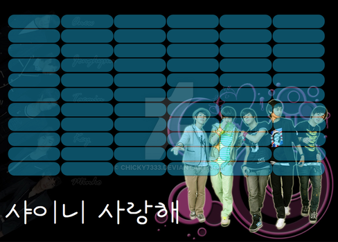 SHINee timetable#10 by chicky7333