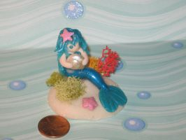 Polymer Clay Mermaid by LaLaBears