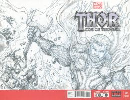 God of thunder Thor by kehchoonwee