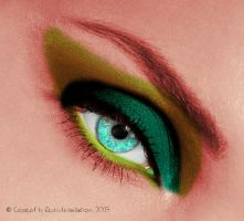 Eye- green make-up by Rosshi