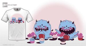 Monsters are Cupcake Lovers! by credesign