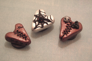 Heart Charm Magnets by SweetButEvil
