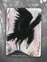 Take Flight aceo by black-brd