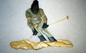 skier by NMWoodcarver