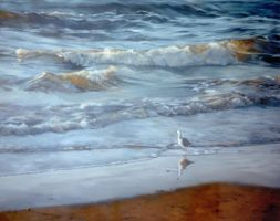 Solitude - Acrylic Painting by AstridBruning