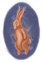 Demon bunny by Aishlling