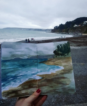 Seaton Beach by paper-violet