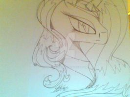 Nightmare Rarity ( Print in Progress ) by CryslaArt