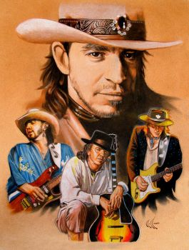 Stevie Ray Vaughan by choffman36