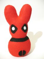 Deadpool Bunny Plush by P-isfor-Plushes