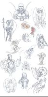Angelic Visions Sketch Dump by AngelaSasser