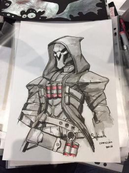 Ink Sketch from ComicCon Russia 2016 | 03 by Sephiroth-Art