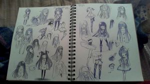 all my doodles 8/5/13 by OhMyGob