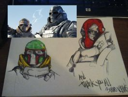 Army of Two - Mask Ideas by pharaohsarmy