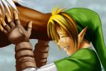 OoT: She's eating Link's hair by Naolin-Nox