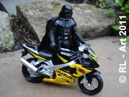Darth Vader and his bike by reiner67