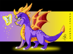 Spyro and Sparx by Arofexdracona
