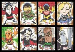 BRONZE AGE sketchcards 057-064 by thecheckeredman