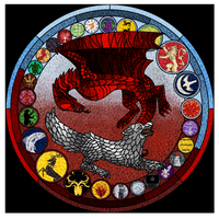 Game of Thrones in Stained Glass. by Blavi