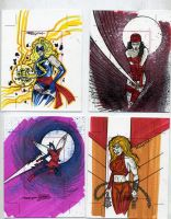 sketch cards dangerous divas 5 by TomKellyART
